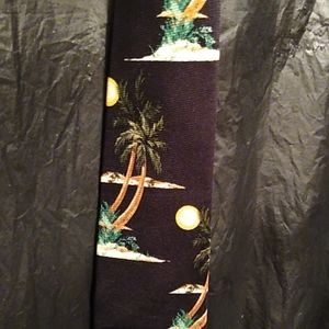 Tango Hawaiian  100%  silk  tie  palm tree…